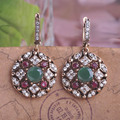 Fashion Top Selling Womans Joyas Bijoux Brand New Arrival Nice Turkish Jewelry Green Earrings For Men Max Brincos Relogios Ear