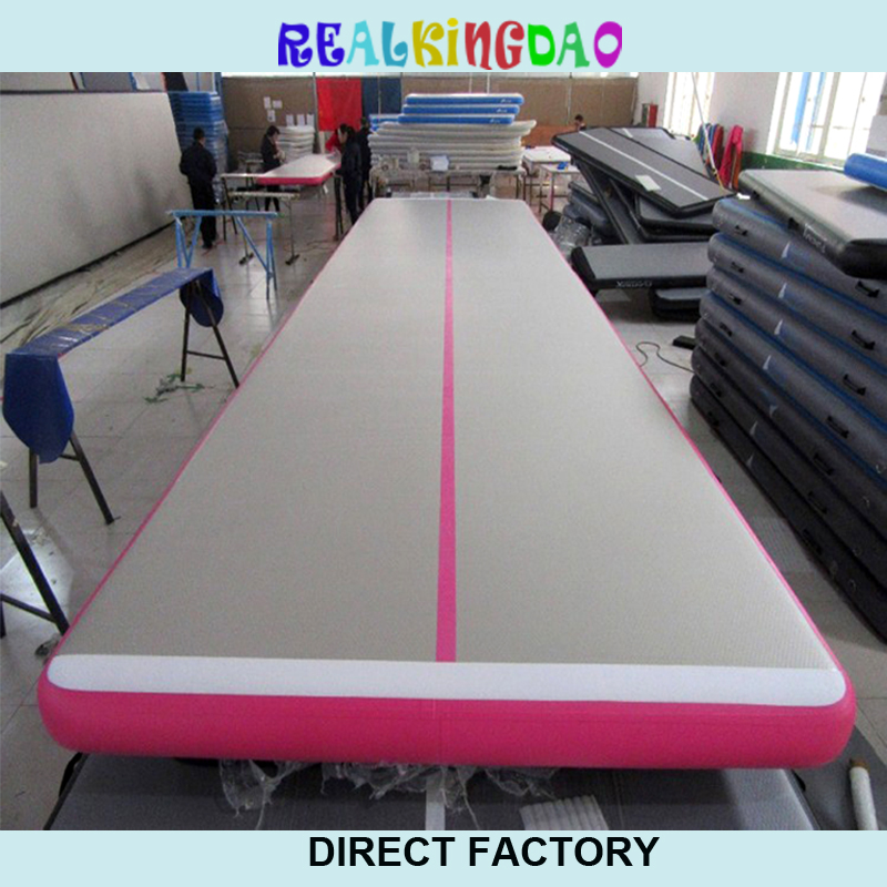 Free Shipping 5m Pink Inflatable Cheap Gymnastics Mattress Gym Tumble Airtrack Floor Tumbling Air Track For Sale hot sale inflatable air tumble track gymnastics for sale