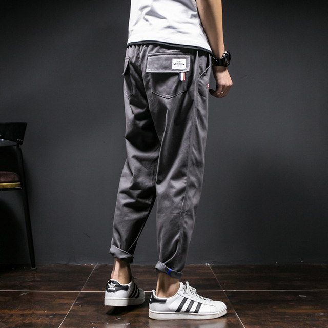 NOVA primavera 2017 algodão slim calça casual calças tamanho coringa confortável hemming lazer estudantes de cor pura homens XXK5-1