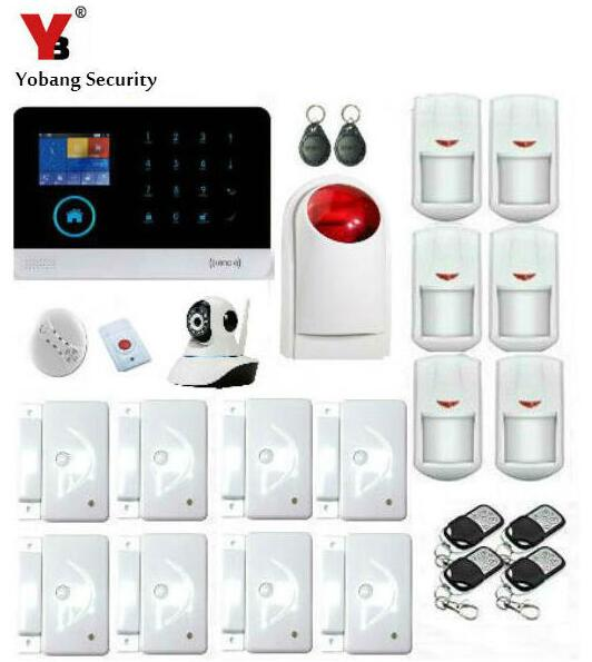 Yobang Security-WIFI GSM GRPS SMS APP Control Sensor Alarm Fire Smoke Detector Alarm Smart Home/Garden Security Alarm Systems wireless smoke fire detector for wireless for touch keypad panel wifi gsm home security burglar voice alarm system