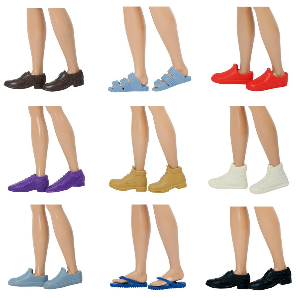 10 Pairs Fashion Doll Shoes For doll Boyfriend Baby Toy Dolls Accessory PLUS