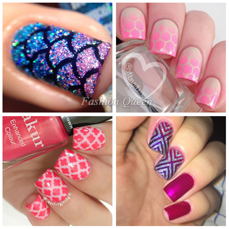 Hot 1sheet nail vinyls irregular grid pattern stamping nail art hot 1sheet nail vinyls irregular grid pattern stamping nail art tips manicure stencil nail hollow stickers guide in stickers decals from beauty health prinsesfo Gallery