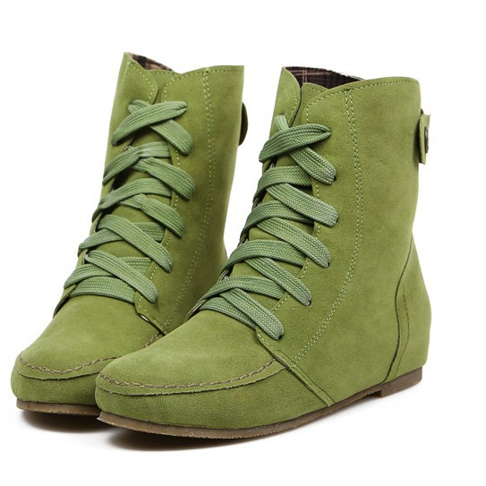 2018 New Autunm Winter Ankle Short Women Boots Flat Heel Lace-Up Single Martin Boots Shoes Push Warm Flat Shoes Ladies zk 3.5 2018 new autunm winter ankle short women boots flat heel lace up single martin boots shoes push warm flat shoes ladies zk 3 5