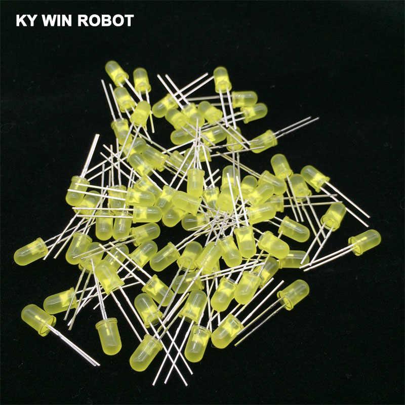100 pces 5mm diodo led 5mm kit sortido branco verde vermelho azul amarelo laranja rosa roxo branco quente diy diodo emissor de luz