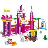 Banbao 6367 Princess Series Rose Flower Garden Blocks Toys for Girls Plastic Building Block Sets Educational DIY Bricks Toys