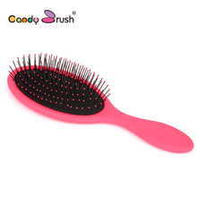 Candy Brush High Quality Fashion Professional Boar Bristle Hair Brush, hot Hair Styling Brush 1pc/lot Hair Comb Free Shipping