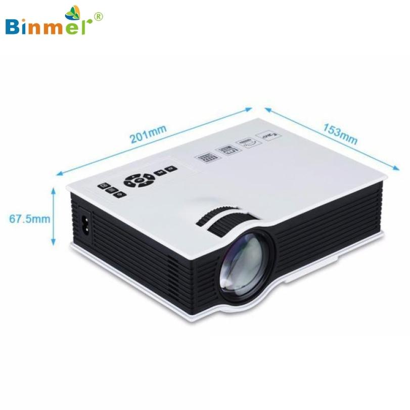 ФОТО Binmer Hot selling 1800lumens 1080P HD LED Mini Home Multimedia Projector HDMI VGA USB SD Play High Quality May.17