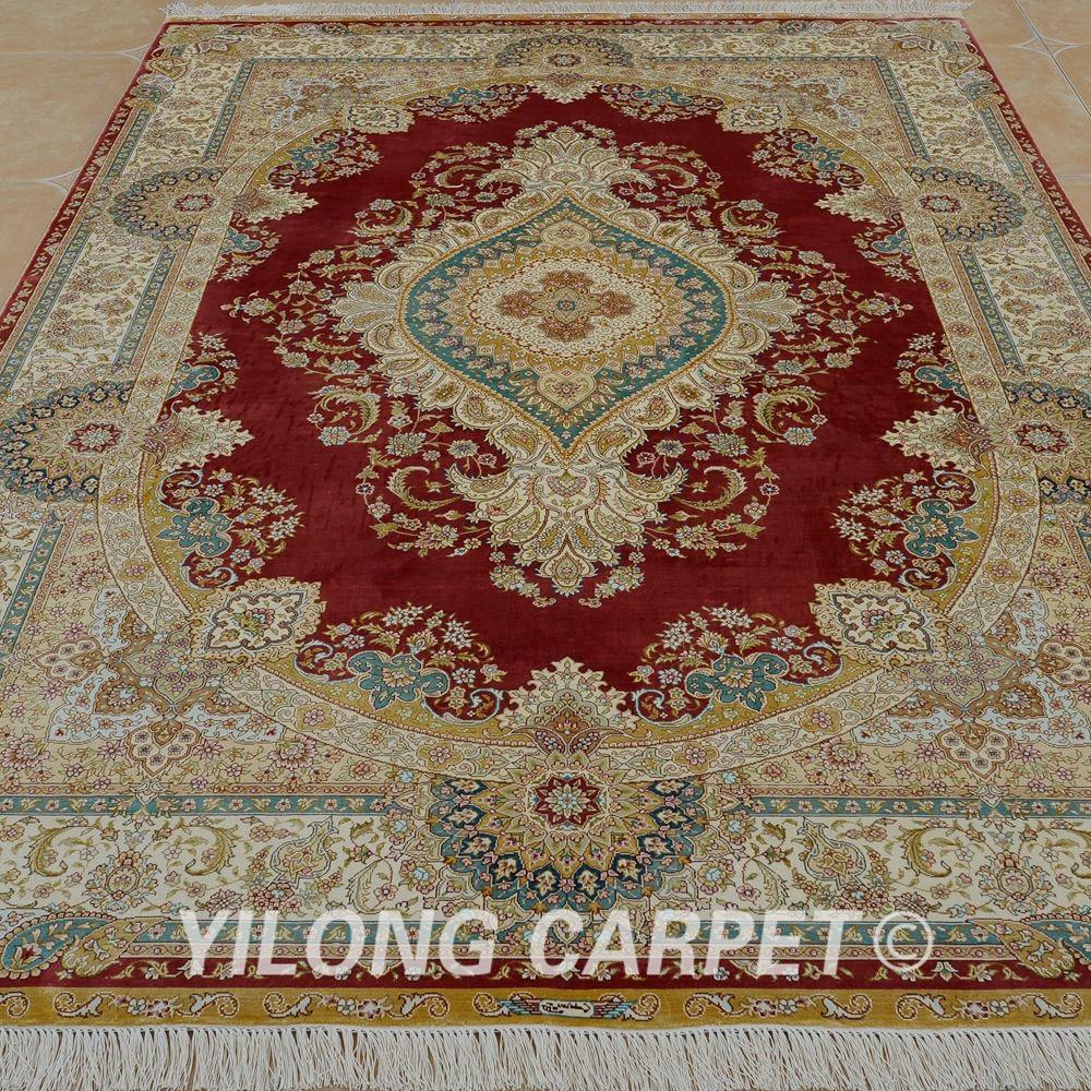 Prodaje se Yilong 5.5'x8 'ručni čipkasti tepih crvena ručno - Tekstil za kućanstvo - Foto 2