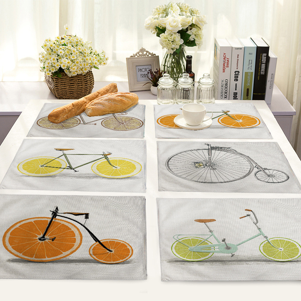 Home Decor Dining Table: New Year Home Decor Nordic Style Bicycle Pattern Table