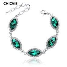 Chicvie Прямая поставка зеленый регулируемый шарм браслеты и
