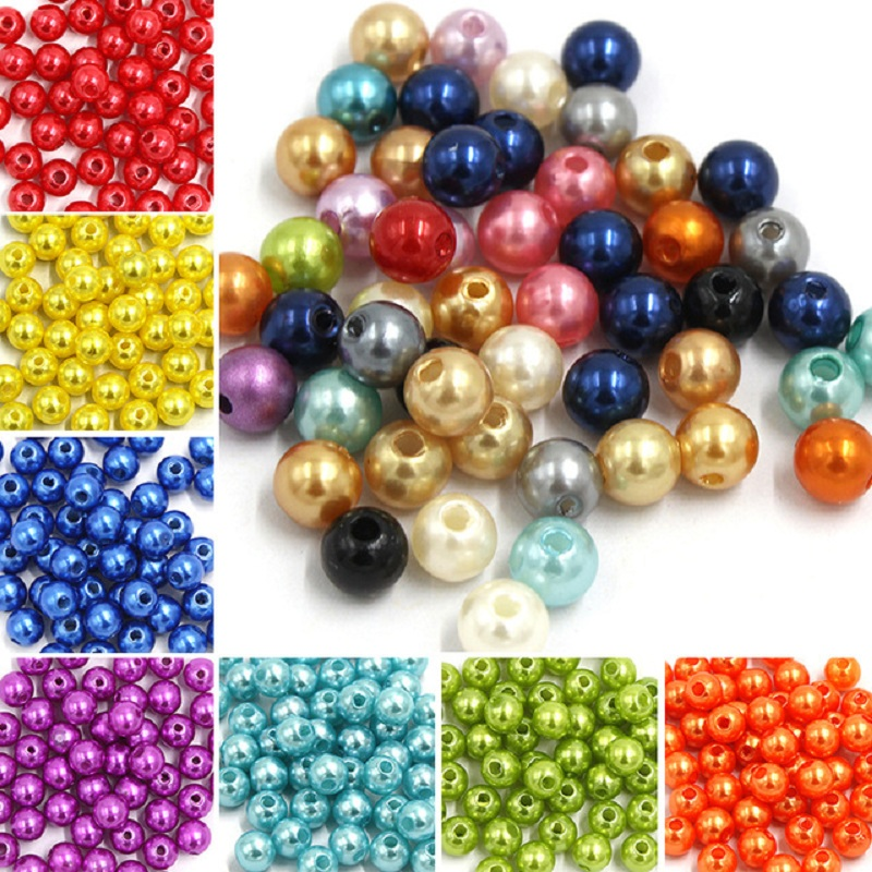 300pcs/bag Acrylic Imitation Pearls For Crafts 4mm Needlework Pearl Beads Jewelry Making Pearls For Handicrafts Wholesale Parels