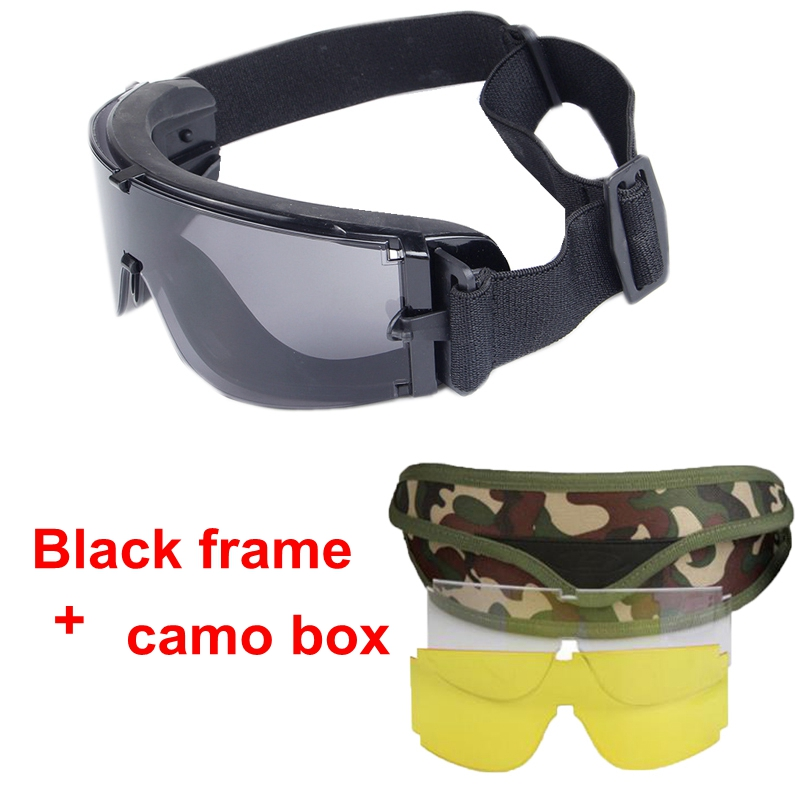 HTB1K8bCQXXXXXbOXVXXq6xXFXXXl - Military Airsoft Tactical Goggles Army Tactical Sunglasses Glasses Army Paintball Goggles