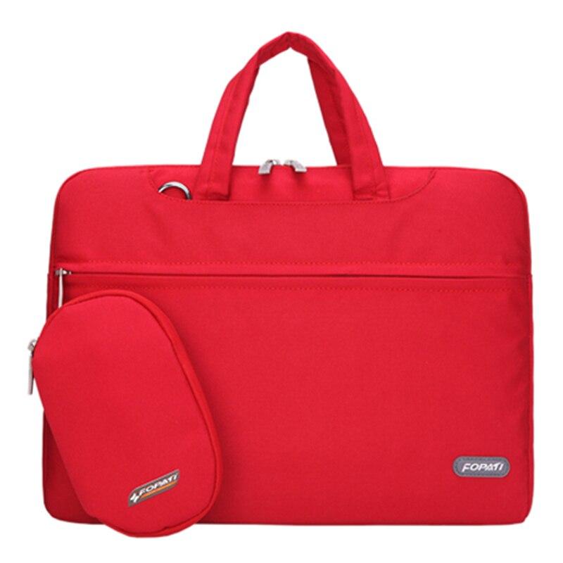15 inch Laptop Bag Notebook Shoulder Messenger Bag Men Women Handbag Sleeve (Red)