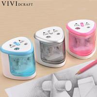 Vividcraft School Stationery Supplies Pencil Sharpener Student Automatic Electric Pencil Sharpeners Mechanical For Art Painting