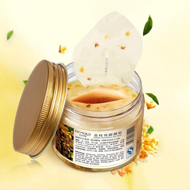 BIOAQUA Gold Osmanthus Eye Mask Eye Patches  Remove Dark Circles Eye Bag Collagen Gel Protein Sleep Patche  Eye Care