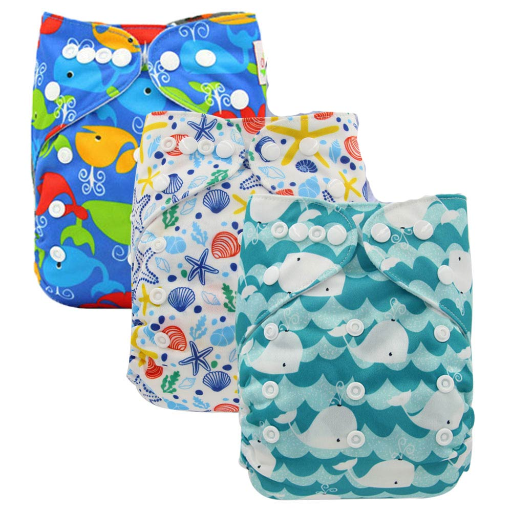 Baby Cloth Diapers Reusable Diaper Cover Baby Pocket Diaper Washable Nappy Changing Infant Pants One Size Adjustable