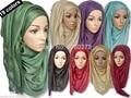 (12 unids/lote) hijab musulmán shimmer mantón de las bufandas de la bufanda brillante JLS118