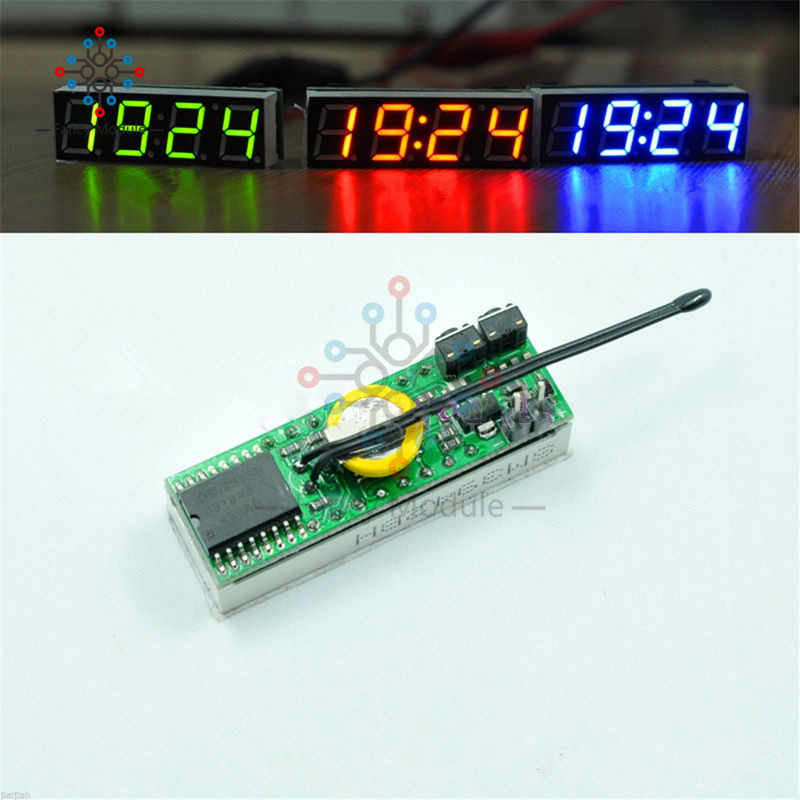 Red 3 In 1 LED DS3231SN Digital Clock Temperature Voltage Module DIY Time/Thermometer/Voltmeter DC 5-30V