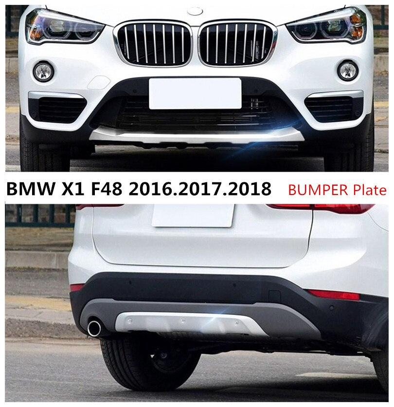 Для BMW X1 F48 2016.2017.2018 бампера бампер плиты высокое качество Нержавеющаясталь спереди + сзади авто Интимные аксессуары