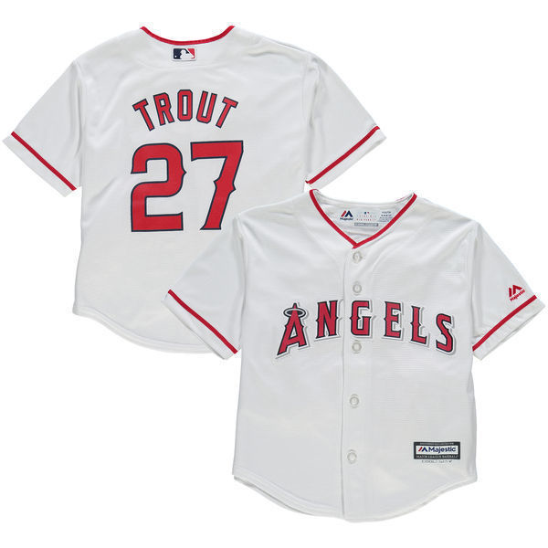 e7ec0b077ae ... ebay mlb preschool toddler los angeles angels mike trout home cool base  player jersey 52e8d 7a241