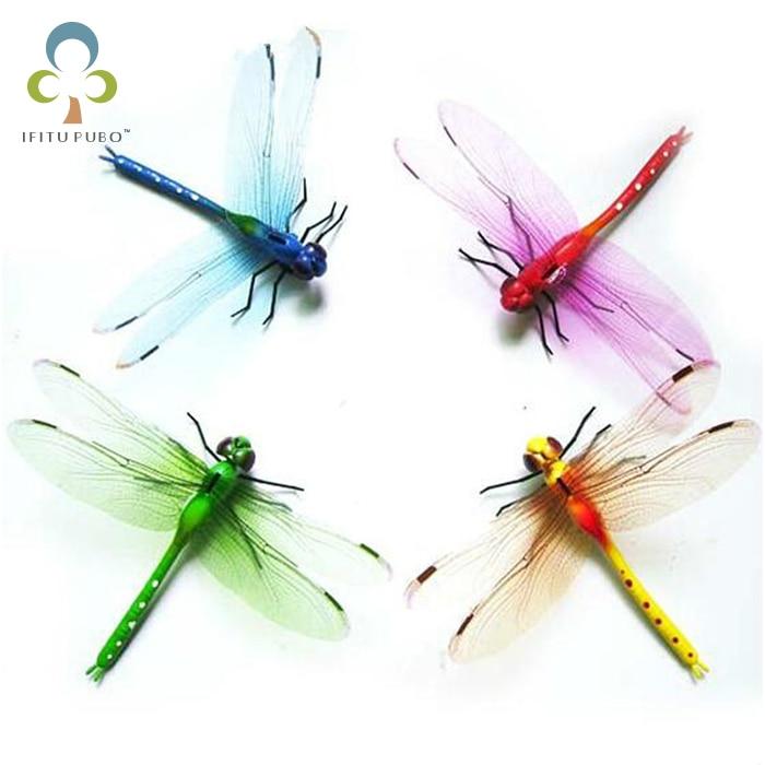 4pcs/lot 13.5cm Vivid Multi Color Dragonfly Fridge Refrigerator Magnet For Home Decor Wedding Party Gift GYH