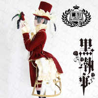 Black Butler Ciel Phantomhive red cosplay costume costom made