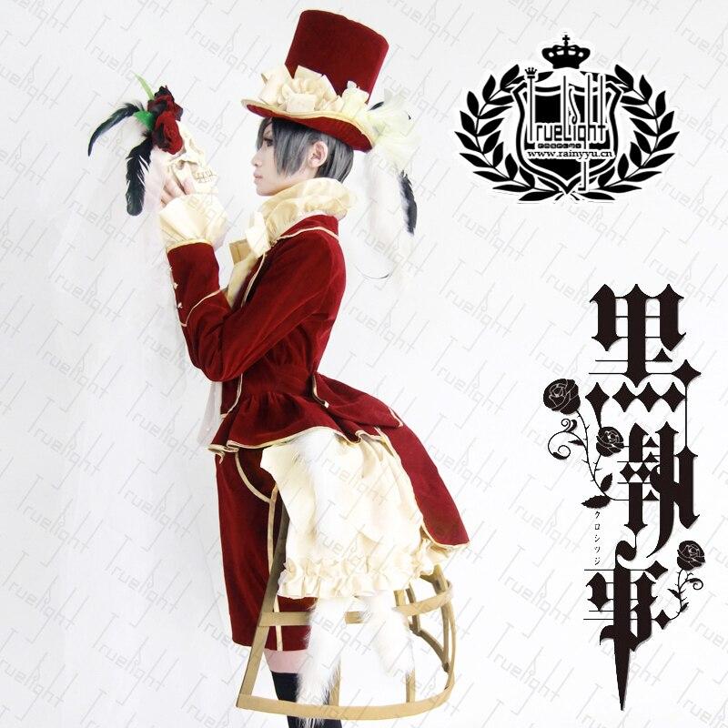 Black Butler Ciel Phantomhive cosplay rosso costume costom fatto