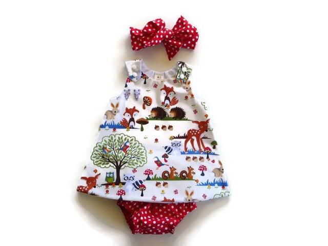 26f101577500f الحيوان مجموعة فساتين الطفل ملابس الرضع اطفال رضع بنات + بنطلون سروال +