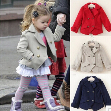 Toddler Girls Trench Coat Clothing 2015 New Spring Autumn Cotton ...