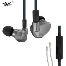 В наличии оригинальная KZ ZS5 2DD + 2BA Bluetooth Беспроводной Наушники Hi-Fi монитор DJ Гибридный отсоединения MMCX наушники гарнитуры