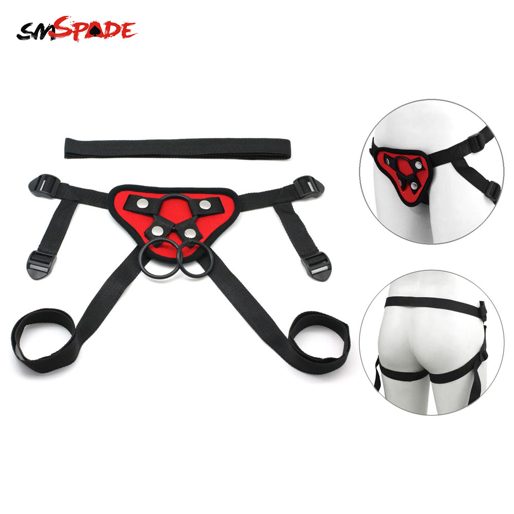 SMSPADE Neoprene Strap On Harness Dildo Toys Ultra Adjustable Lesbian Strap On Dildo Couples Sex Toys Sex Toys for Men Bdsm Game lesbian strap on dildo adjustable harness strap on dildo 35cm black silicone penis adult sex toys for woman sex products