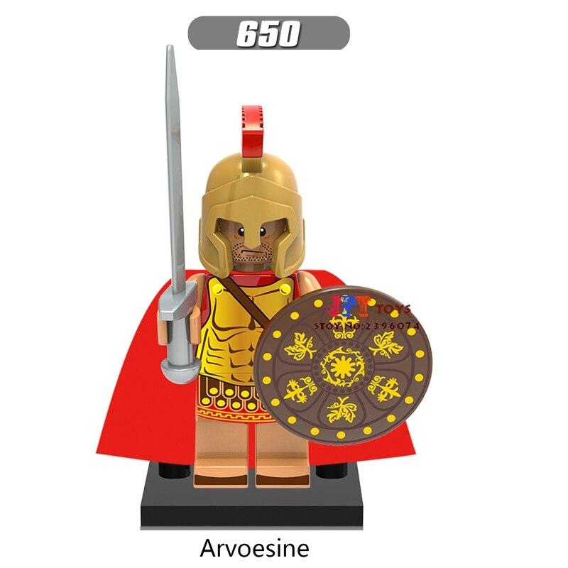 Single star wars super heroes Medieval Rome Warrior building blocks model bricks toy for children brinquedos menino