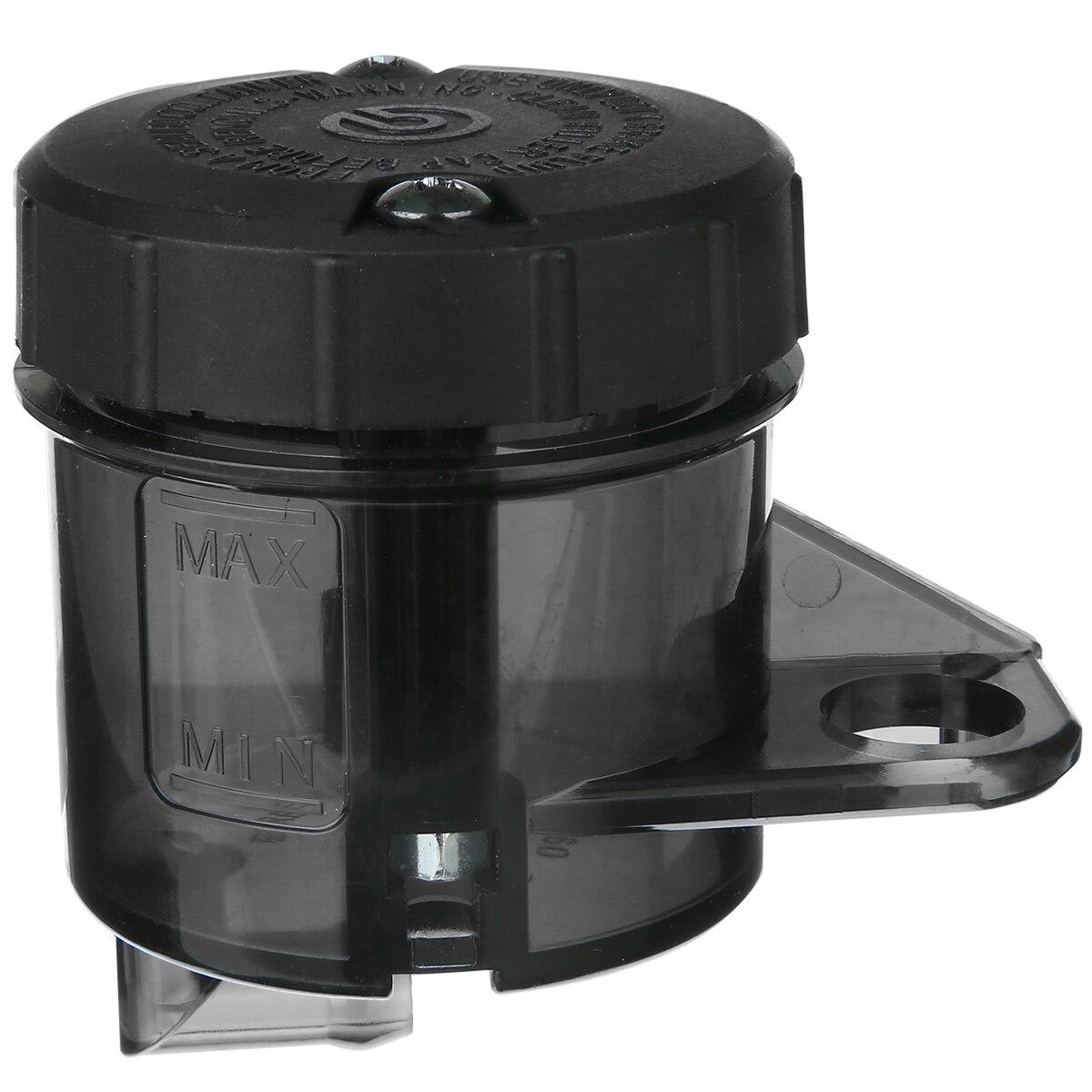 1pc Motorcycle Front Rear Brake Fluid Tank Reservoir Oil Cup Transparent Smoke Black For Kawasaki Honda Yamaha KTM Vespa