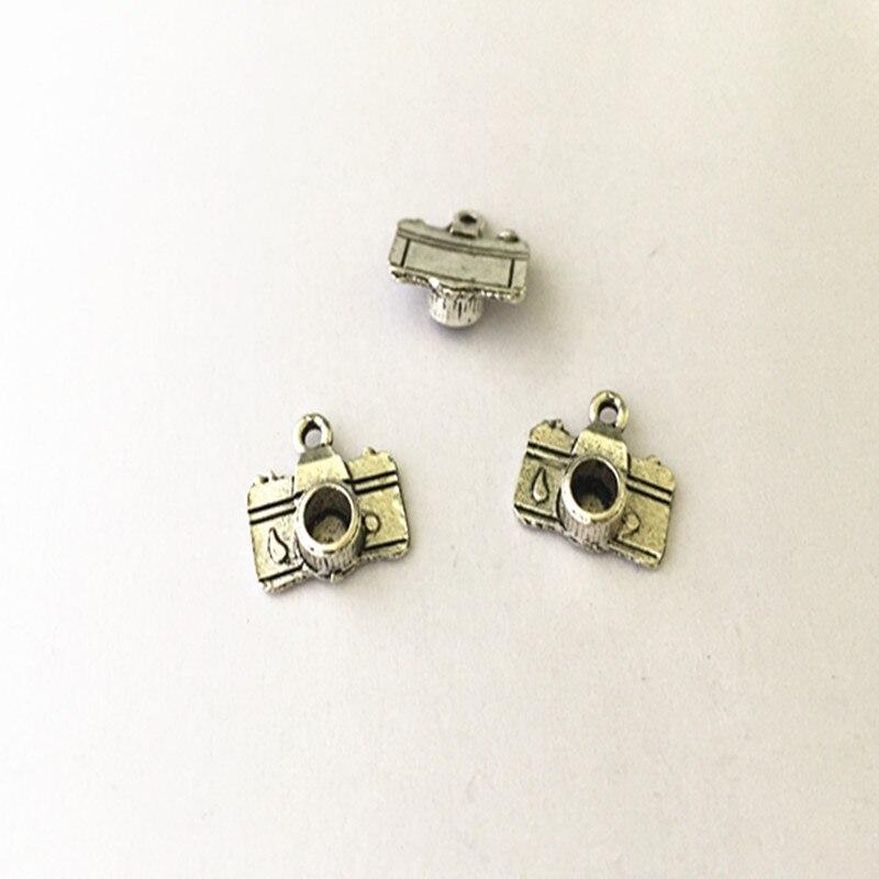 Charms Brave 10pcs/lot Antique Silver Camera Pendant Necklace Pendant Diy Charm Vintage Mini Charm Connector 10mmx16mm