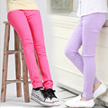 2016 Brand Girls Candy Color Leggings For Autumn Spring Children Cotton Cute Pants Kids School Fashion Pants Childrens Trousers