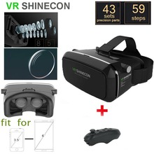 New Shinecon VR 2 Google cardboard Glasses VR BOX Virtual Reality 3D VR Glasses VR Headset Smartphone  + Bluetooth Controller