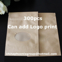 brown kraft paper ziplock bag Doypack Pouch food storage bags food bag quantity 300pcs accept Customized Printing