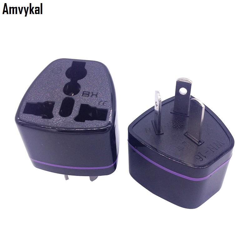Amvykal CE ROHS US UK EU To AU Plug Adapter Converter Universal Australia Travel Charger Socket Adaptor Electrical Plug 500 Pcs