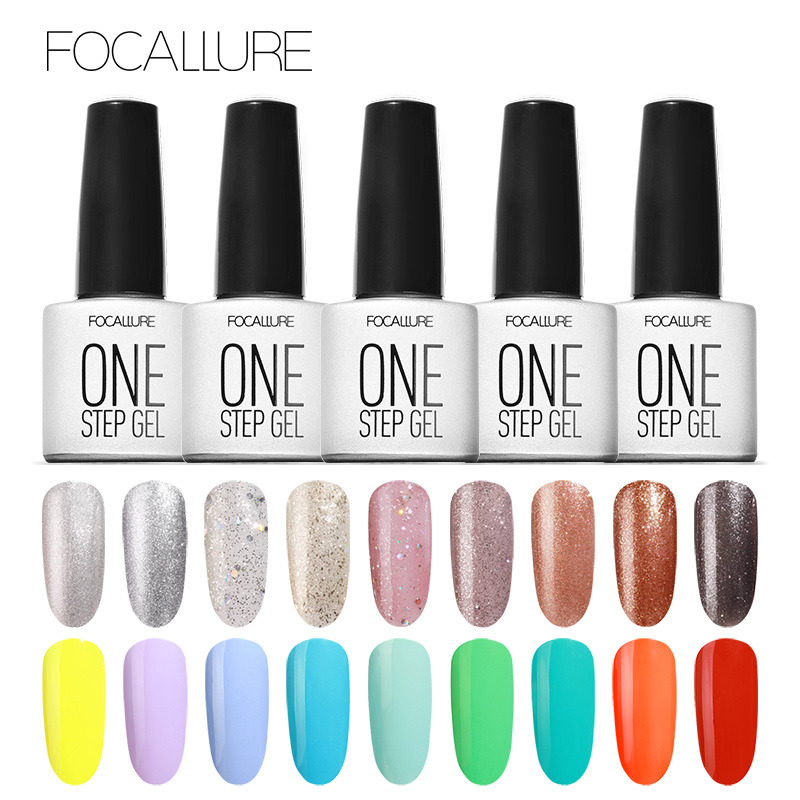 Focallure One Step Gel Nail Polish UV LED Lacquer Manicure No Need ...