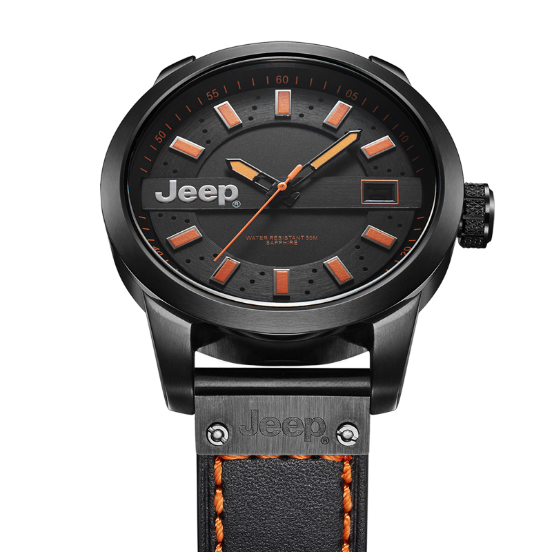 d3bf534b830 Jeep Original Men Watch Outdoor Waterproof Watches Leather Band Mens Quartz  Wristwatches Relogio Masculino JPW63601-in Quartz Watches from Watches on  ...