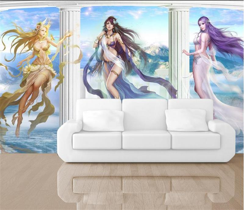 3d room wallpaper custom murals non-woven wall paper sticker Anime beauty painting 3d wall photo wallpaper for wall 3d custom mural 3d wallpaper cartoon planet in the solar system home decor room painting 3d wall murals wallpaper for wall 3 d