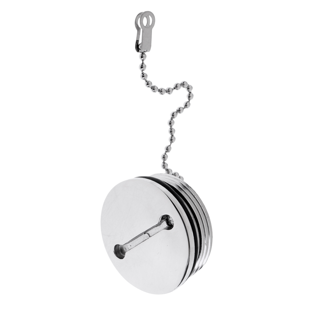 Boat Marine Hardware 316 Stainless Steel Deck Fill Replacement Cap and Chain Boat Parts & Accessories