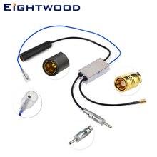 Eightwood Авто DAB + AM/FM автомобиля радио антенна сплиттер DIN 41585 женский мужской и SMB Aftermarket кабель преобразования
