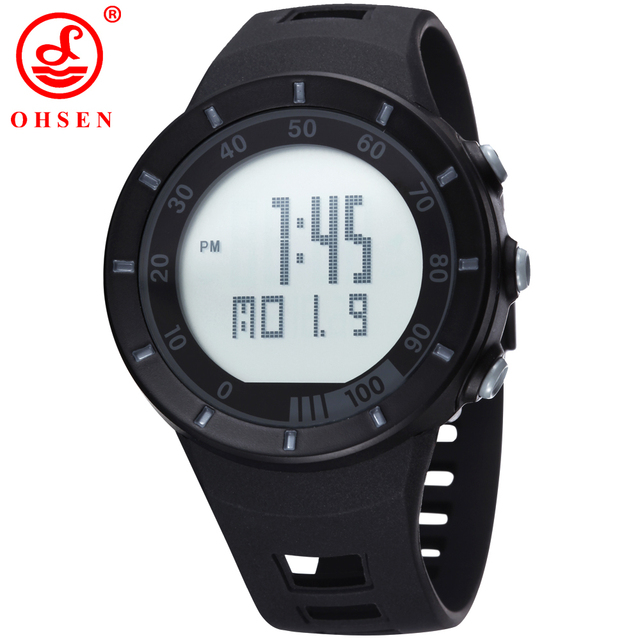 22900b54b Ohsen الرجال الرياضة العسكرية الساعات LED الرقمية رجل العلامة التجارية ووتش  ، 5ATM الغوص السباحة اللباس