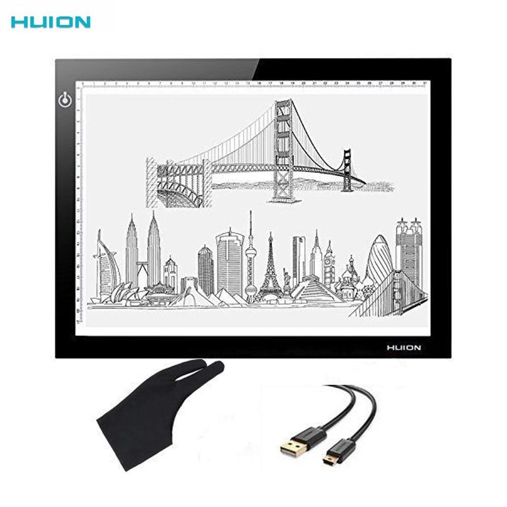 Huion 17 7 L4S Ultra Thin 5mm LED Light Box Professional Animation Tracing Pad Adjustable Brightness