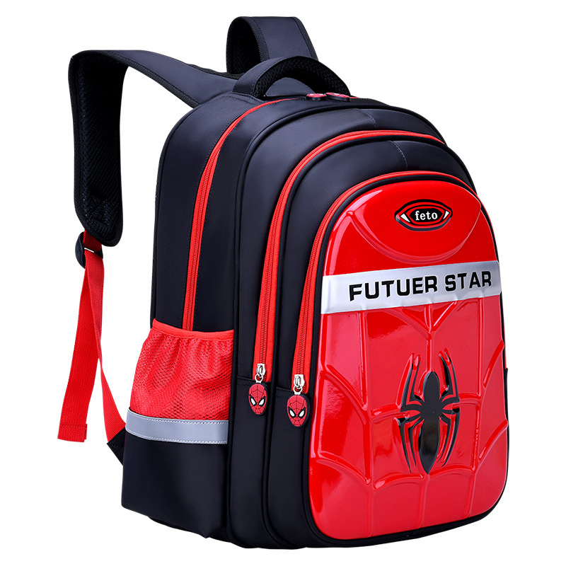 NEW 3D Cartoon 1-9 Grade 2 Size Student School Bags For Boys Waterproof Backpacks Book Bag Kids Schoolbags Satchel Backpack