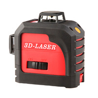 New Fukuda 12 lines MW 93T lithium battery red laser level 360 Vertical And Horizontal Self leveling Cross Line 3D Laser