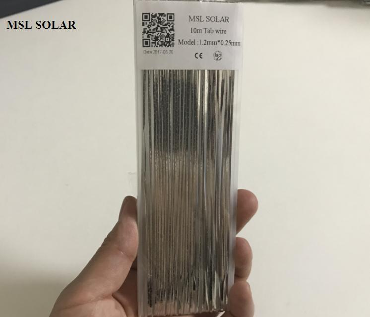 MSL SOLAR Solar Cell Solder Strip 1.2*0.25mm Tabbing wire solder Ribbion. Tin-plate copper strip 10m/Lot Solar panel DIY