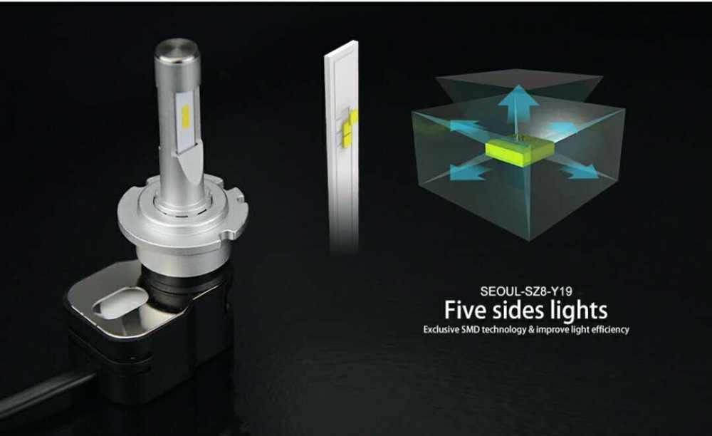 PAMPSEE 1 Pair Souel CSP 60W 8400LM T5 Auto LED HeadLight Kit Bulb H1 H3 H4 H7 H8 H9 H10 H11 9005 HB3 9006 HB4 9012 Car LED Lamp