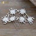 Elegante floral varas do cabelo jóia da pérola enfeites de cabelo meninas do partido presentes festival & decoração do casamento acessórios bingning
